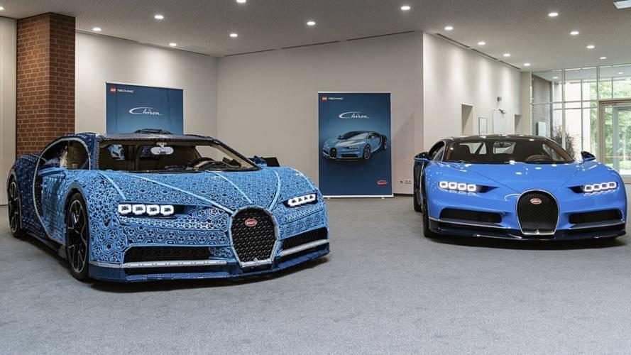 Bugatti Chiron собрали из конструктора ЛЕГО. В натуральную величину.